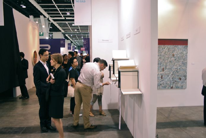 "Photograph of an installation titled ""The Potential,"" at Art HK 2011"
