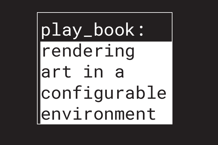 """Play Book: Rendering Art in a Configurable Environment,"" a monograph on games made by Thukral & Tagra"